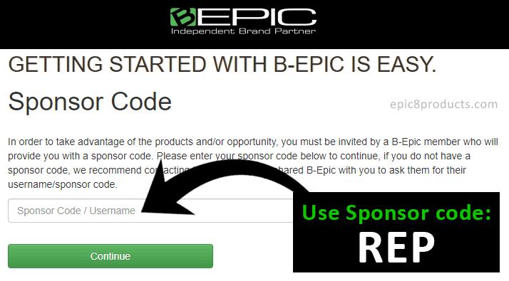 B-EPIC Sponsor Code
